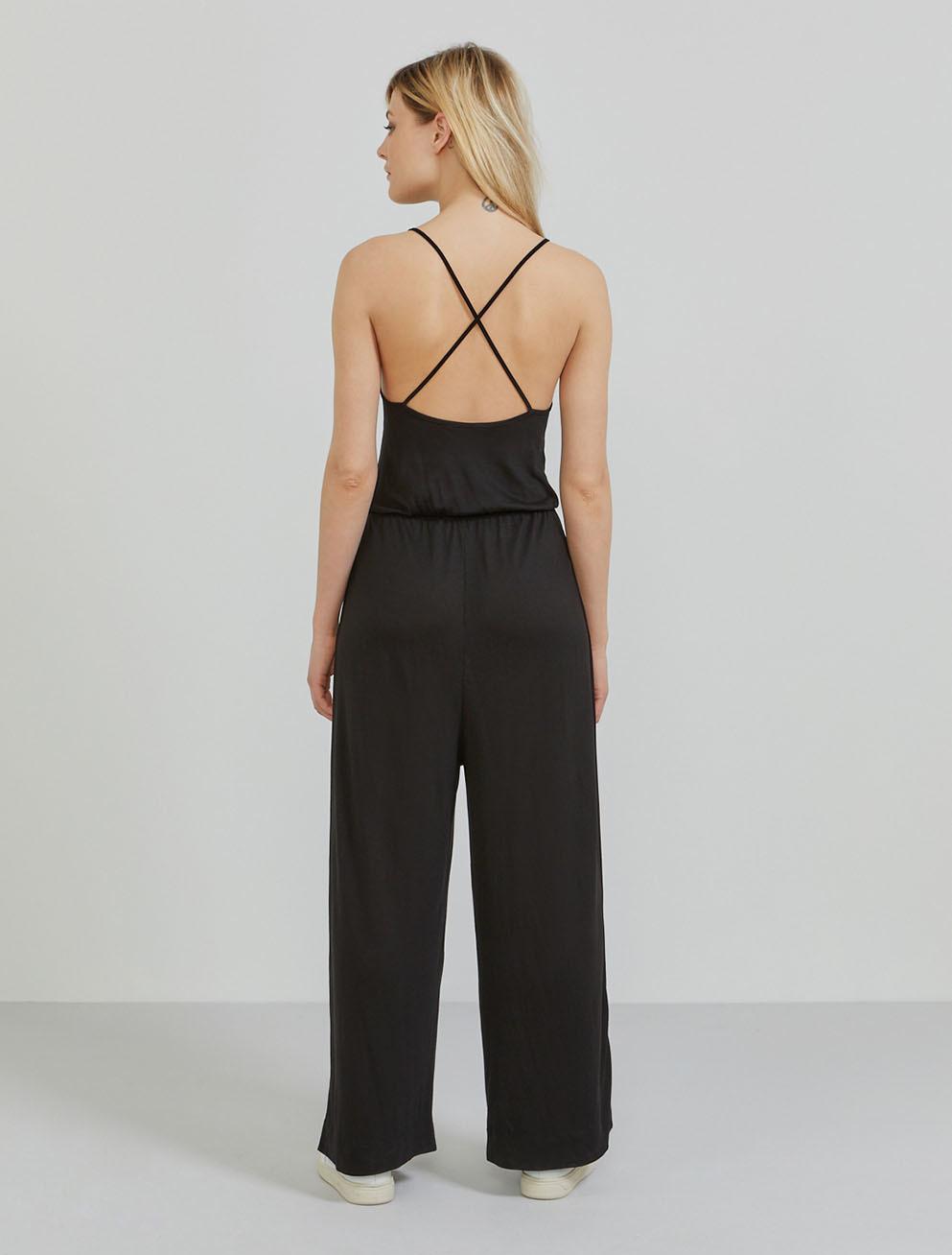 Tencel cross-back jumpsuit
