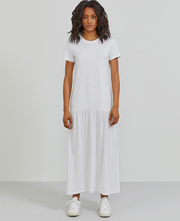Organic cotton T-shirt maxi dress