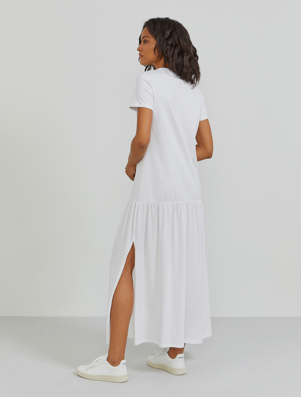 Organic cotton T-shirt maxi dress