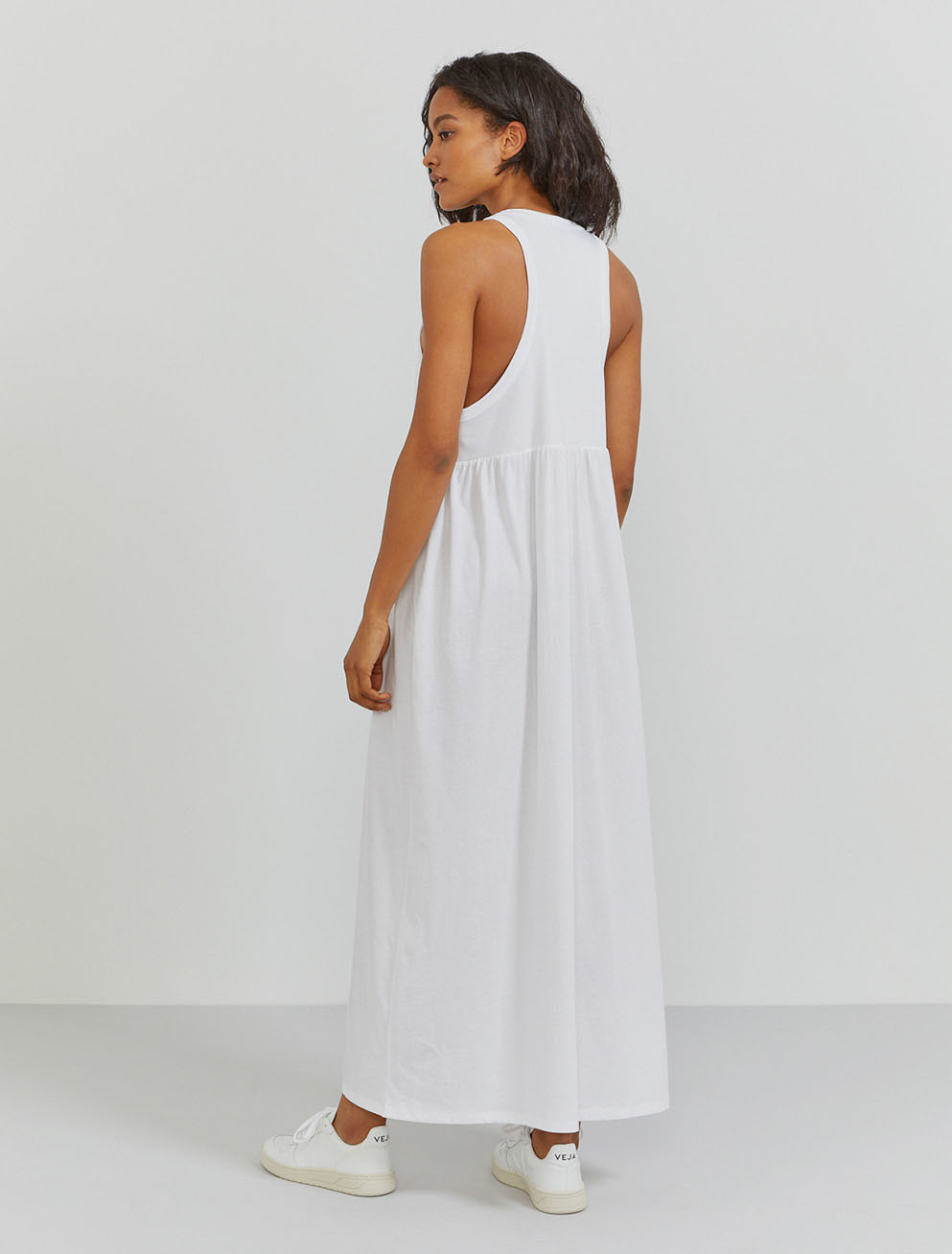 Organic cotton sleeveless maxi dress
