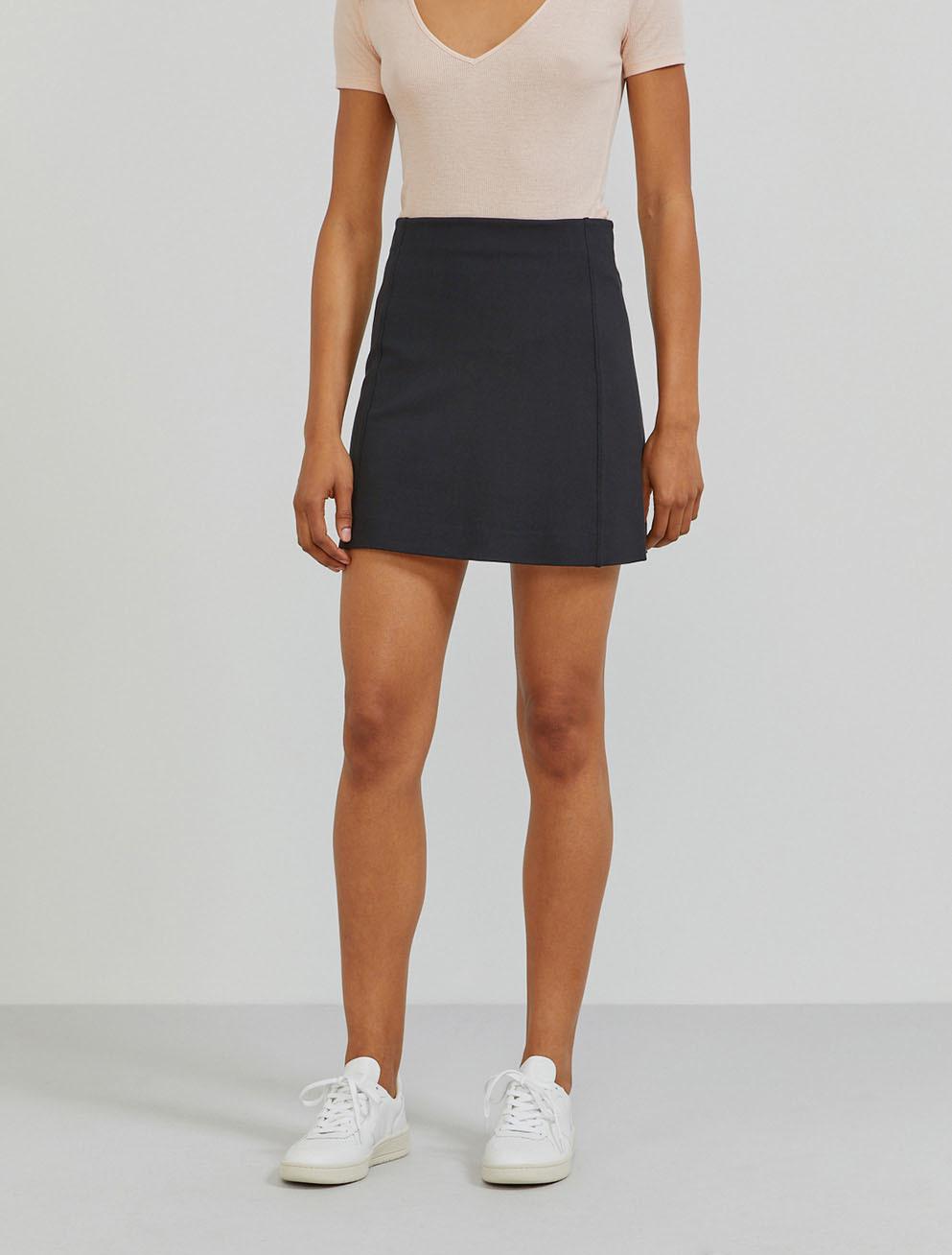 Stretch-jersey mini skirt