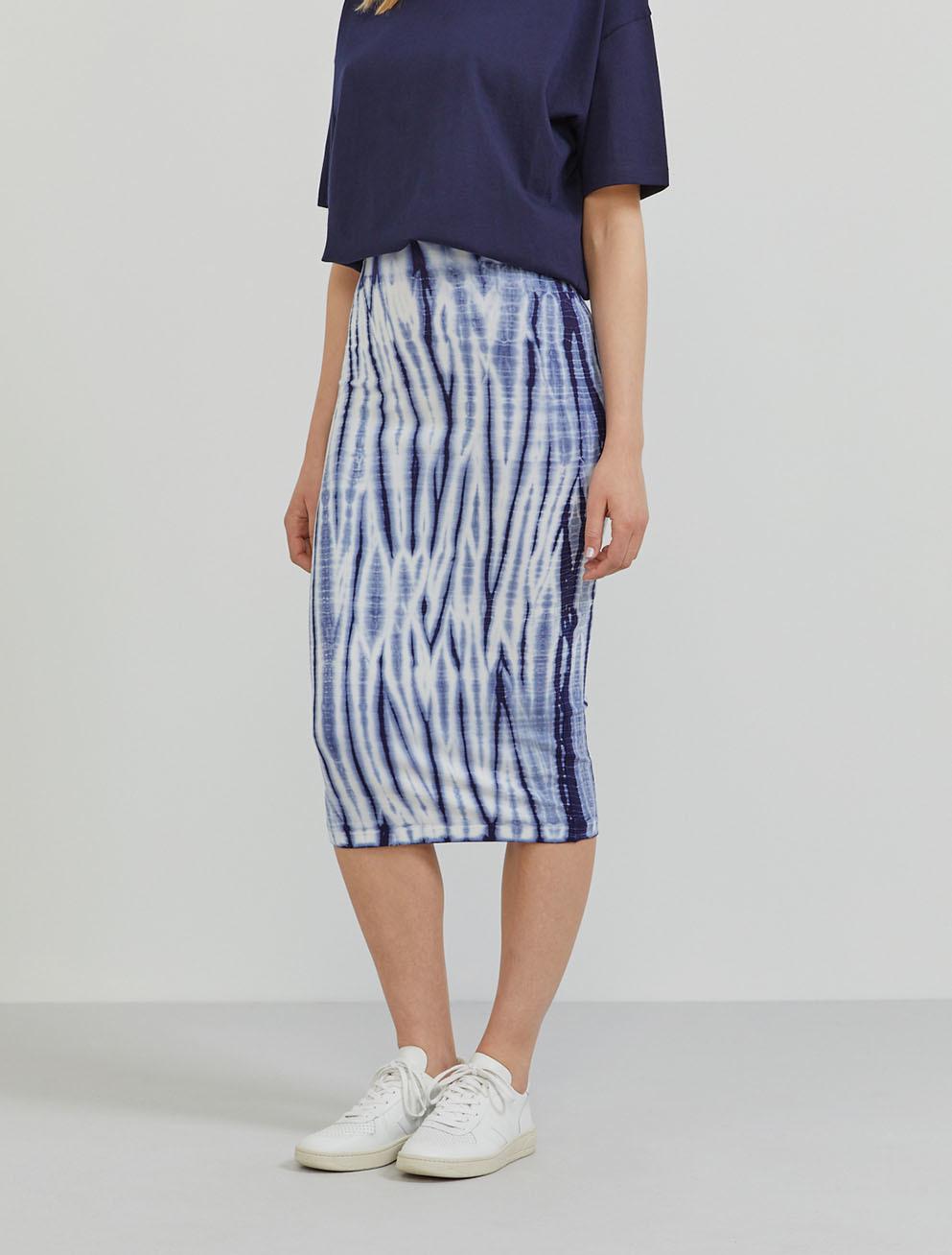 Tencel tie-dye tube skirt