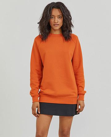 Organic cotton boy-fit sweatshirt
