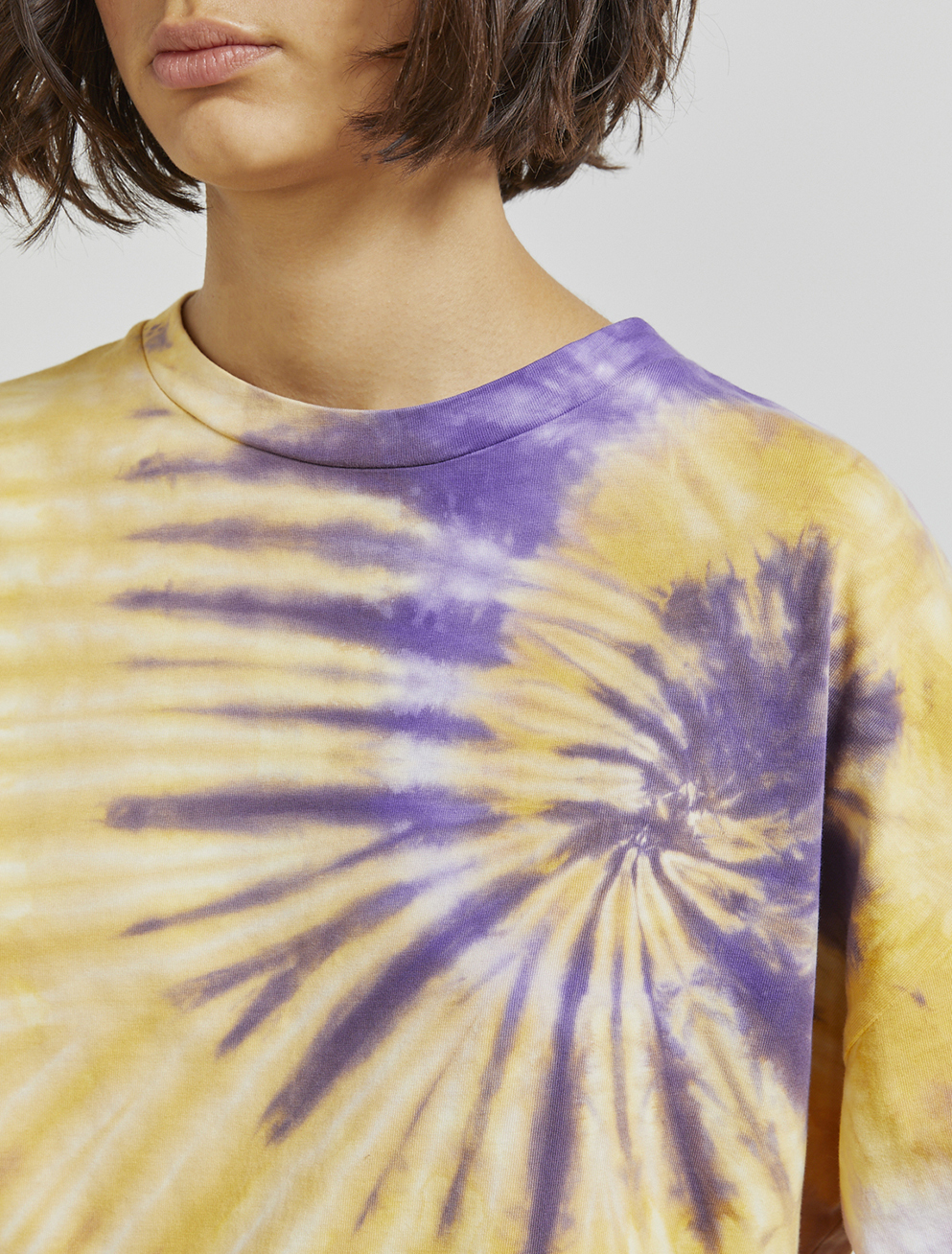 Organic cotton tie-dyed long-sleeve top