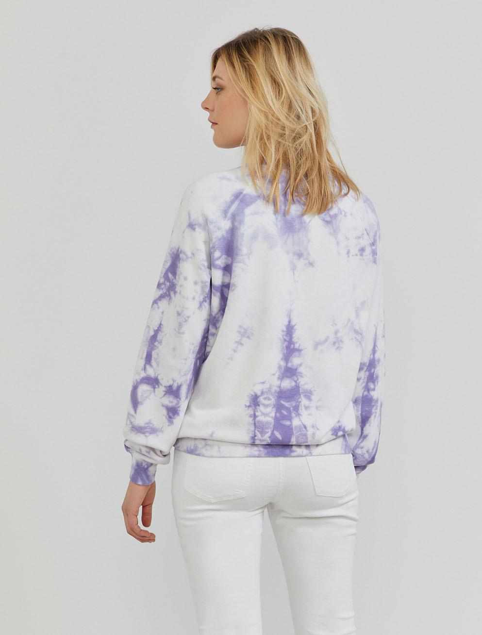 Organic cotton tie-dye boy-fit sweatshirt
