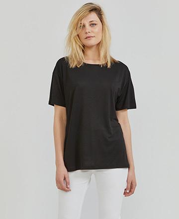 Tencel open-back boy-fit top