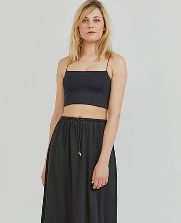 Stretch-jersey crop top