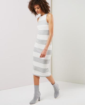 Wide stripe dress