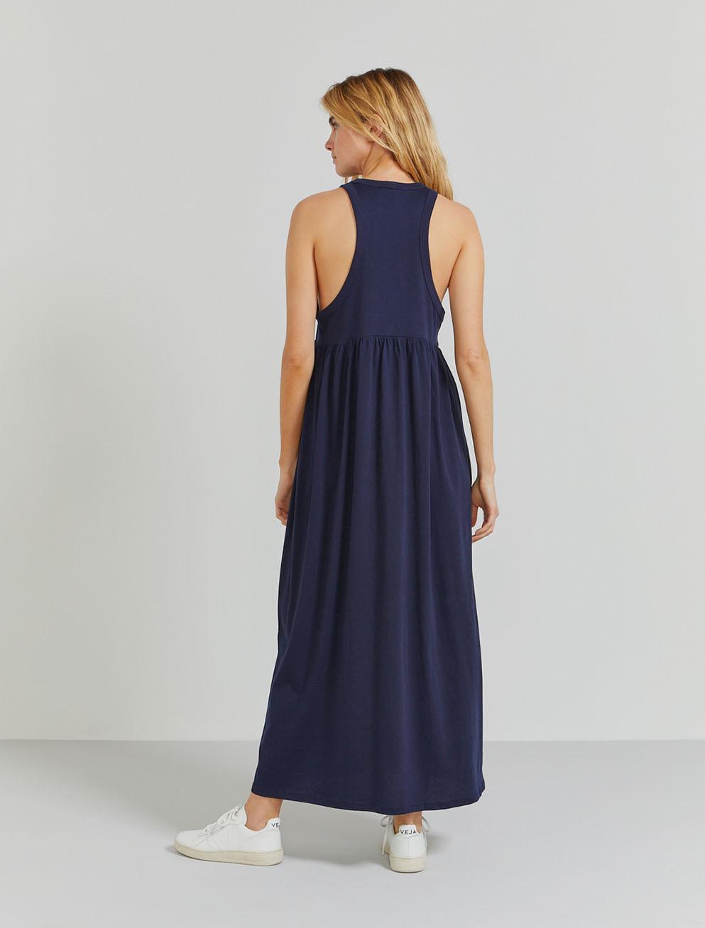 Organic cotton sleeveless maxi dress