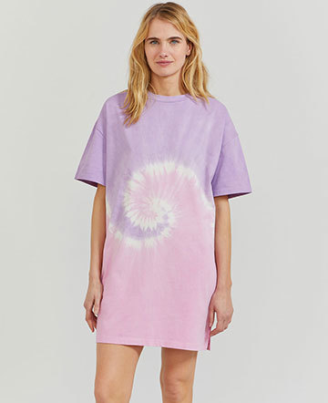 Organic cotton tie-dye oversized T-shirt dress
