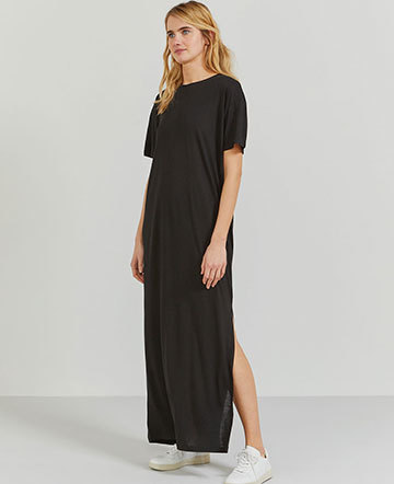 Tencel open-back T-shirt maxi dress