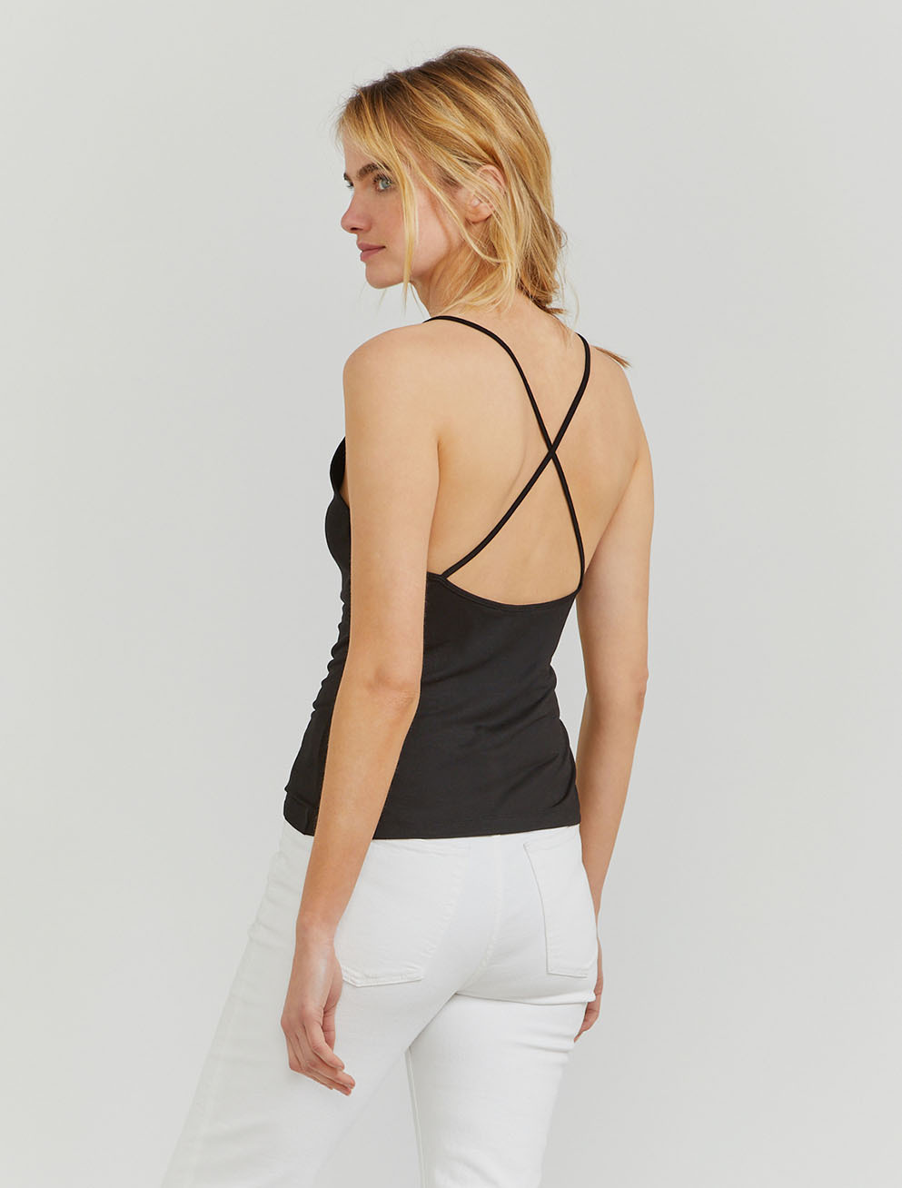 Tencel cross-back cami