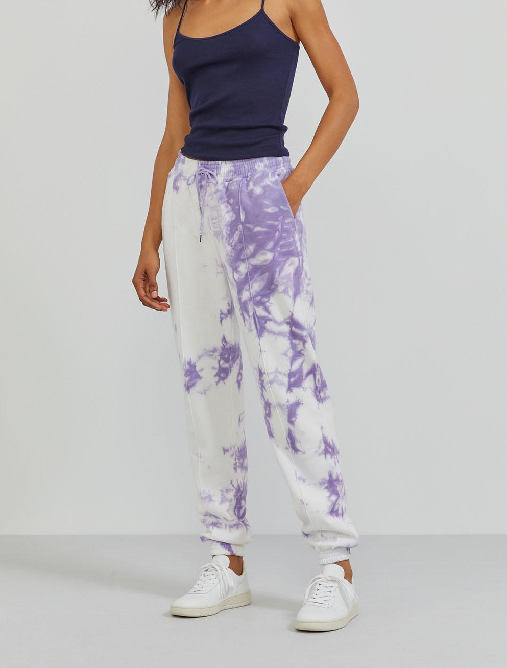 Organic cotton boy-fit sweatpants with tie-dye