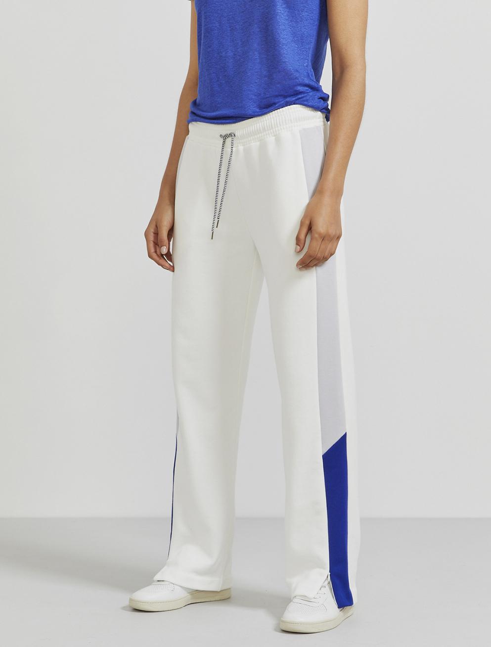Organic cotton contrast-panel track pants