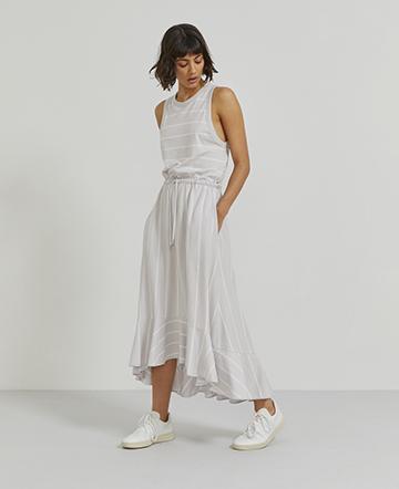 Organic cotton striped tank dress