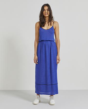 Natural linen maxi dress