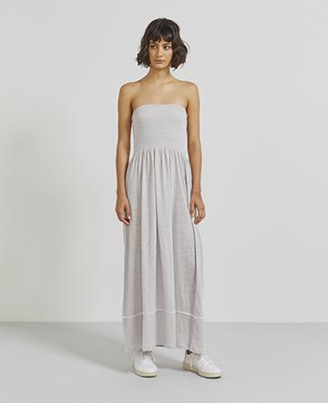 Natural linen bandeau dress