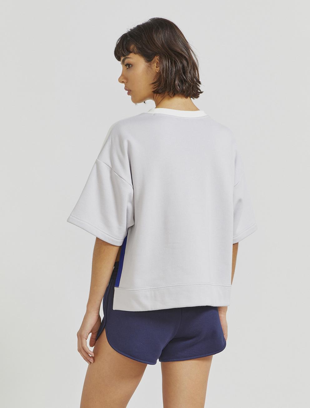 Organic cotton short-sleeve sweatshirt