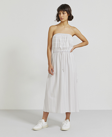 Organic cotton sleeveless striped dress