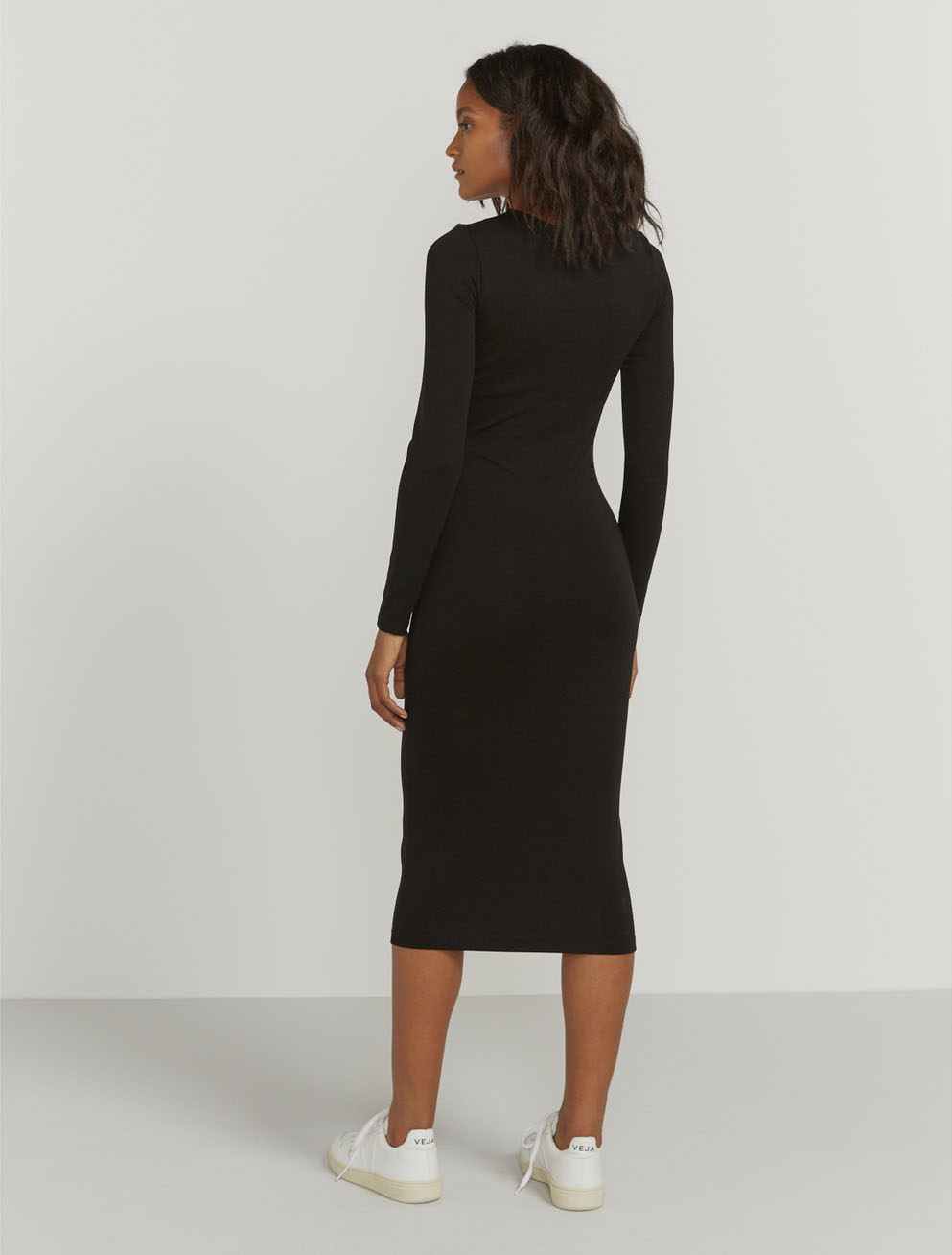 Bodycon stretch jersey dress