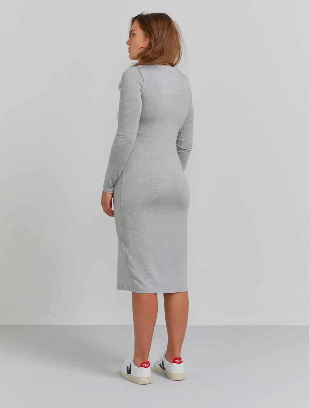 Bodycon stretch jersey dress