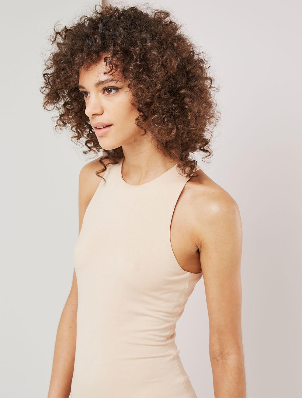 stretch jersey dress