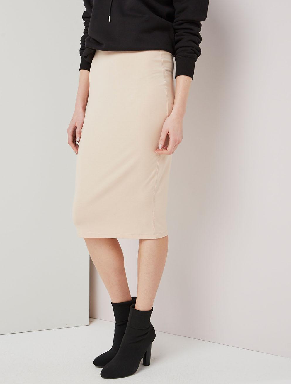 jersey tube skirt